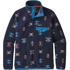 Patagonia W's Lightweight Synch Snap-T Pullover Space Spirits/Neo Navy